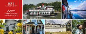 Historic Ft Langley Cruise Tour + Cruise - Vancouver Paddlewheeler Riverboat Tours