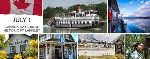 Historic Fort Langley, BC Paddlewheeler Cruise - Canada Day!