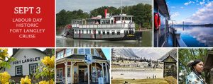 Historic Fort Langley Cruise Tour + Cruise - Vancouver Paddlewheeler Riverboat Tours BC