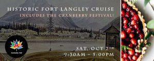 SAT, OCT 7 – Ft Langley + the Cranberry Fest!