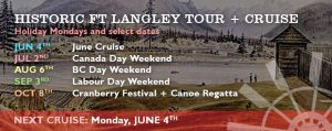 Historic Fort Langley CruiseTour + Cruise - Vancouver Paddlewheeler Riverboat Tours