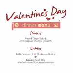 Valentines Day Dinner Menu