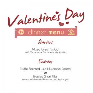 Valentines Day Dinner Menu 2017