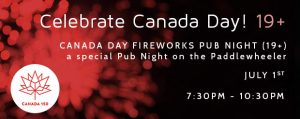Celebrate Canada Day - Fireworks Pub Night Cruise