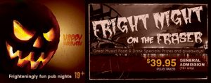 Fright Nights on the Fraser - Halloween - Vancouver Paddlewheeler Cruises