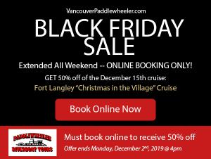 VancouverPaddlewheeler.com - Black Friday Sale - extended!