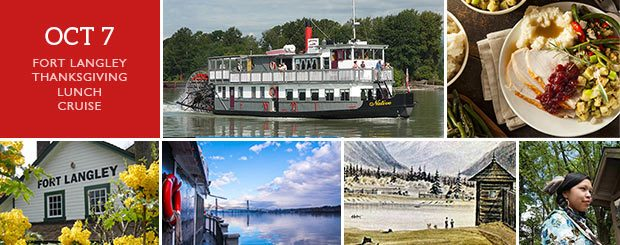 Thanksgiving Lunch Fort Langley Cruise Tour + Cruise - Vancouver Paddlewheeler Riverboat Tours