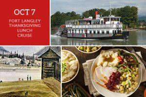 Thanksgiving Fort Langley Cruise Tour + Cruise - Vancouver Paddlewheeler Riverboat Tours