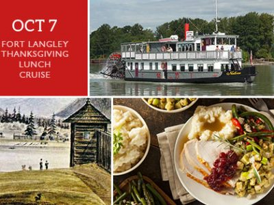 Thanksgiving Fort Langley Cruise Tour + Cruise - Vancouver Paddlewheeler Riverboat Tours